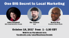 "FACEBOOK LIVE Event: ""One BIG Secret to Local Marketing - with Rev Ciancio of Yext"""